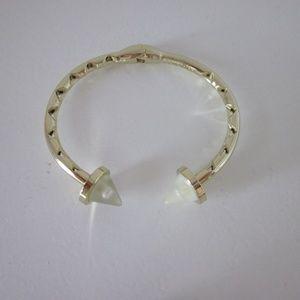 Eddie Borgo Gold-Plated Double Cone Stud Bracelet